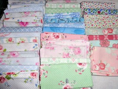 10 piece assorted quality quilting fabric bundles 100% cotton, 2 sizes 8 colours