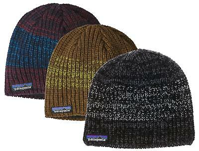 PATAGONIA Speedway Beanie  29122 Low Profile Chunky Knit Wool Fleece Lined  Hat 6de2524d8172