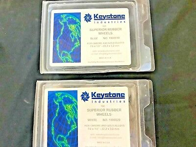 Keystone Superior Rubber Wheels Blue and White Dental