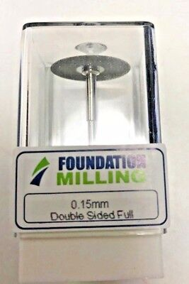 Foundation Milling Dental Disk Cutting Tool 0.15 mm Double Sided Full