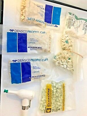 Densco Prophy, Henry Schine, Cresent Angle with Prophy Dental Cups
