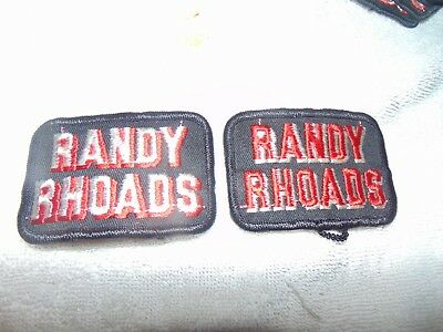 Pair Of 2 1980 VINTAGE NEW OLD STOCK ROCK/METAL PATCH RANDY RHOADS Quit Riot
