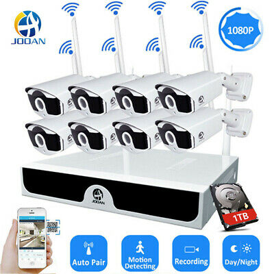JOOAN 8CH Outdoor Wireless Security Camera System CCTV 1080P IP WiFi Webcam 1TB