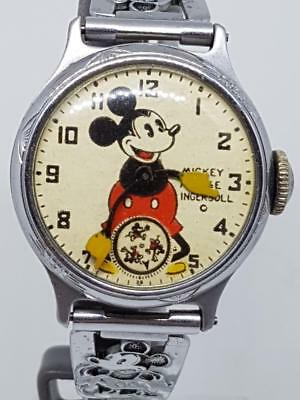 Mickey Mouse Wind Up 1933 Ingersoll Wrist Watch Circa 1933