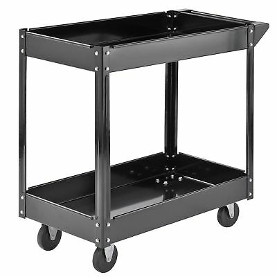2-Shelf Steel Tools and Supplies Utility Cart Commercial Service up to 220 lbs