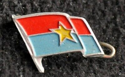 Rare Antique Cuba Cuban Pin Badge Fidel Castro Revolution Merit Flag