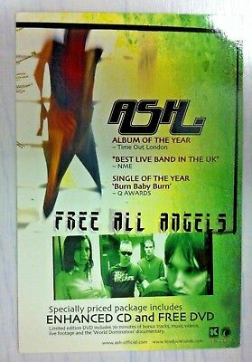 Ash - FREE ALL ANGELS - Promo Post Card - NEW Condition!