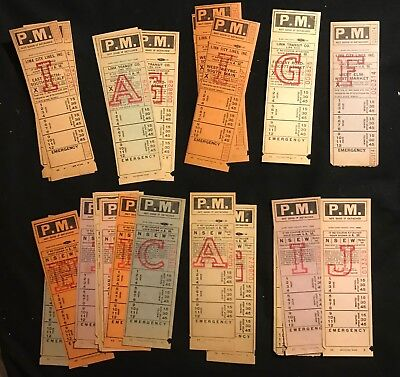 Large lot of Lima City Lines Bus Transfers - Tickets