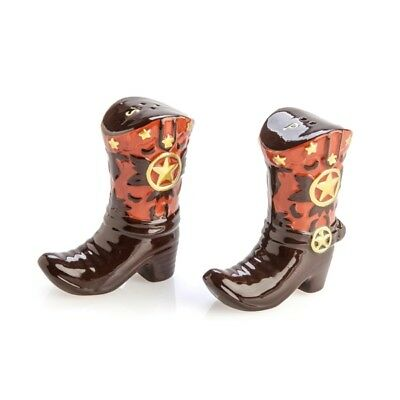 Ceramic Novelty Collectible Salt and Pepper Shakers Shaker Set Cowboy Boots