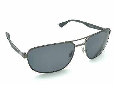 3d31feeaded Ray-Ban RB 3528 029 71 Gunmetal Wrap Aviator Rx Sunglasses Frames 61-