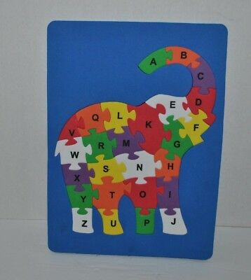 Childrens Educational Elephant Alphabet Foam Letters Jigsaw Puzzle