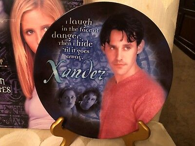 Buffy the Vampire Slayer Xander Collector Plate  limited edition