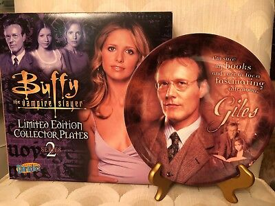 Buffy the Vampire Slayer Giles Collector Plate  limited edition