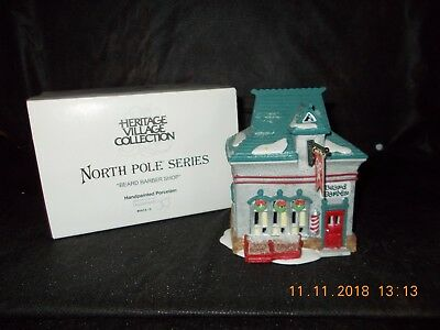 Dept. 56 North Pole Series - Beard Barber Shop - #56340