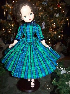 Vintage Plaid Taffeta Christmas Dress ~ For Madame Alexander Cissy Doll