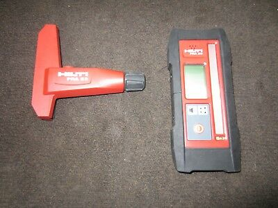 HILTI PRA20 RECEIVER with PRA83 Laser Detector holder and mount PRISTINE