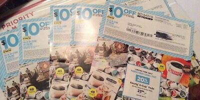 LOT OF 5 BED BATH AND BEYOND $10 OFF $30 (or more) DEAL 💰💰
