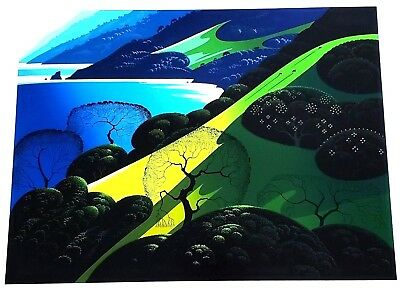 """"""" Above The Sea """" Eyvind Earle Serigraph  - 1987 - Rare - Unsigned"""