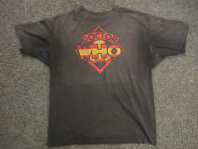 Vintage Doctor Who T-Shirt 70's Logo Made in USA Large