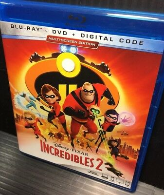 Incredibles 2 (Blu-ray only, 2018, Open Mint