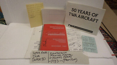 TWA  Super 80  Maintainance  Handbook 1983 Technical Services Training + papers
