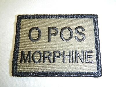 PLATATAC O POS  MORHINE Blood Group Patch Olive / Black