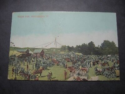 Antique Postcard Valley Fair, Brattleboro Vt  1913