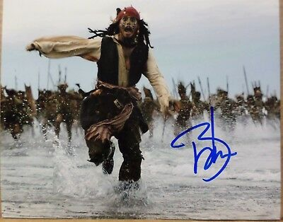 Actor Movie Star Johnny Depp Signed Autographed 8 X 10 Photo With Coa!!!