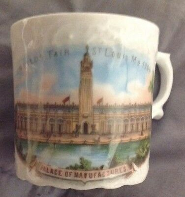 1904 Worlds Fair St Louis, Mo Palace Of Manufactures Souvenir Cup Made Germany