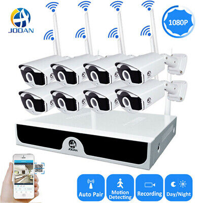 JOOAN 8CH Wireless HD 1080P Outdoor IP Camera WIFI NVR CCTV Security System Kit