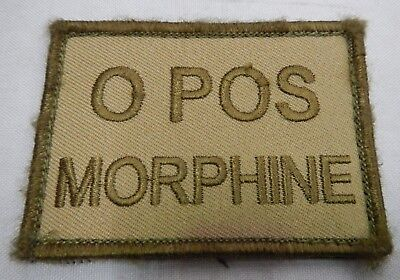 PLATATAC O POS MORHINE Blood Group Patch KHAKI / OLIVE
