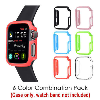 [6 Color Pack] iWatch 4 Cover Apple Watch Series 4 44mm Slim Hard Case Bumper