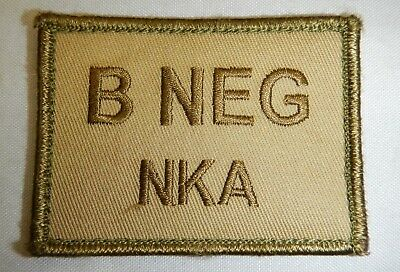 PLATATAC B  NEG NKDA Blood Group Patch KHAKI / OLIVE