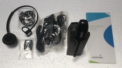 ADDCOM AD670 Wireless DECT Headset   As New Ex Demo