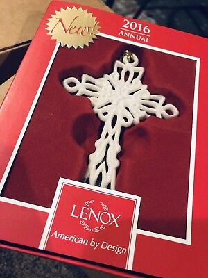 Lenox 2016 Snow Fantasies Cross Ornament NIB