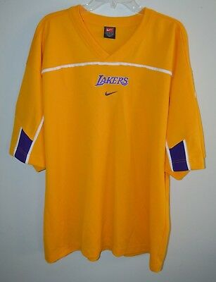 Vintage Nike Authentic Los Angeles Lakers Warm Up Shooting Shirt Jersey XL  Kobe 4a97717ef
