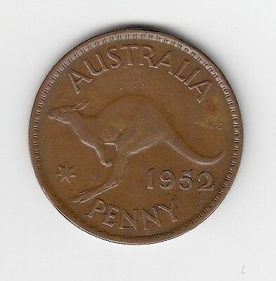 1952M Australia Kgvi Penny - Nice Collectable Vintage Coin