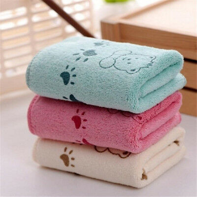 5Pcs 25*50cm Cute Bear Baby Infant Bath Towel Kids Washcloth Soft Clean Towel