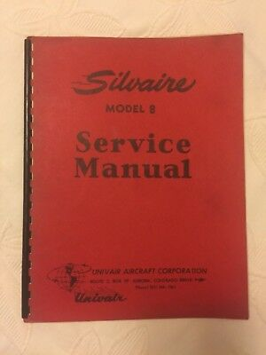 Silvaire Model 8 Service Manual Airplane Aircraft
