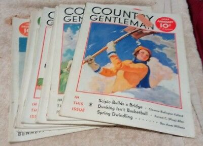 Vintage Country Gentleman Magazines Lot Of 8 1935