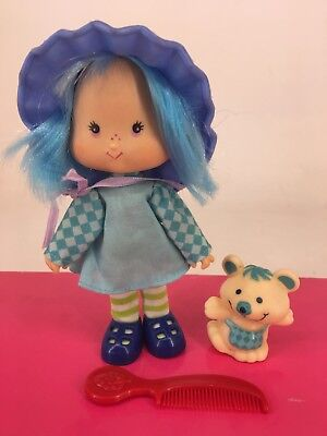 Vintage 1980s Strawberry Shortcake - Blueberry Muffin with Cheesecake & Comb