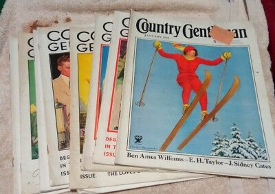 Vintage Country Gentleman Magazines Lot Of 9 1934