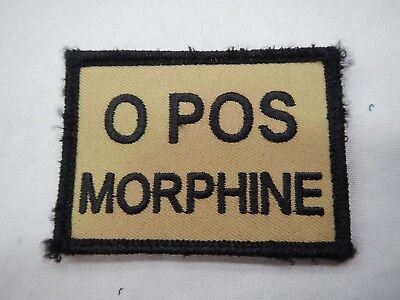 PLATATAC O POS MORPHINE  Blood Group Patch KHAKI / BLACK