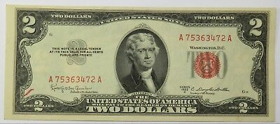 1953-C $2 United States Note Red Seal Two Dollar FR 1512 US Paper Bill #19731F