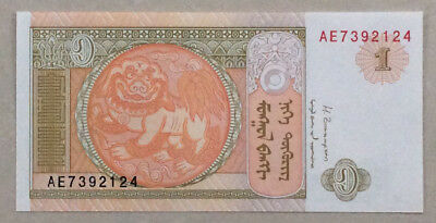 2014 Republic of Mongolia 1 Tugrik(MNT) Banknote New UNC (Badge):AE 7392124
