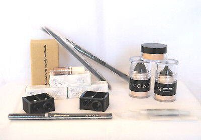 Avon Mixed Lot Make-up and Brushes 13 pces