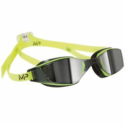 MP Michael Phelps XCEED Swimming Goggles - Mirrored Lens - Yellow/Black