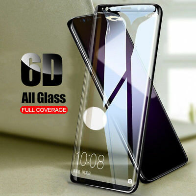 6D Full Cover Tempered Glass Screen Protector For Samsung Note 9 8 S9 S8 Black