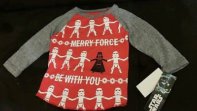 Star Wars Christmas Shirt Boys Stormtrooper Infant 12 Months Darth Vader NEW