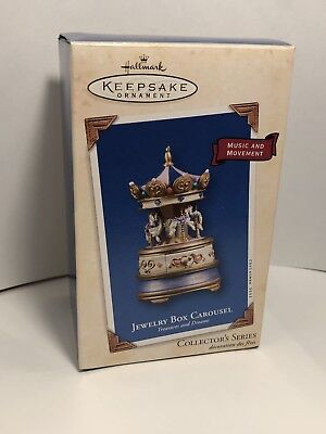 Hallmark Keepsake Ornament Jewelry Box Carousel - Treasures & Dreams #2 - 2003